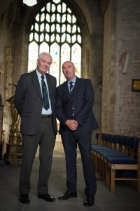 Brian McLoghlin, Chairman and David O'Brien, CEO, Limerick Civic Trust at St Mary's Cathedral, Limerick